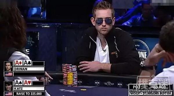 德州扑克策略-AAvsAA!这个史上最蛋疼的BB,价值100万美元!