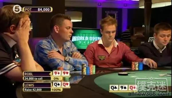 四条撞四条!这种活久见的德州扑克牌局看得人喷血