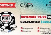 2020年世界扑克大赛阿鲁巴国际巡回赛正式延期-蜗牛扑克官方-GG扑克