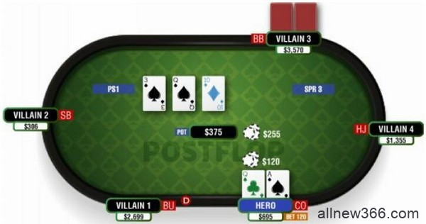 德州扑克顶对顶大踢脚