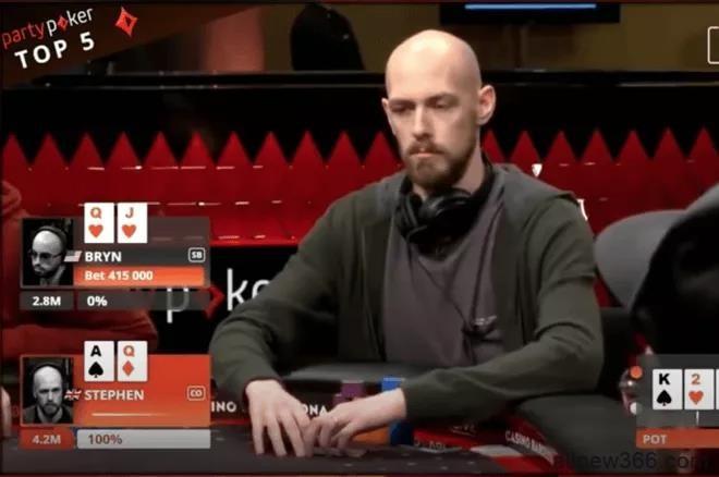 德州扑克这手A高牌应该抓诈唬吗?