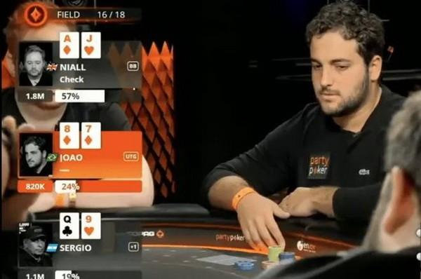 德州扑克听牌失败ALL IN出击 玩的就是心跳!