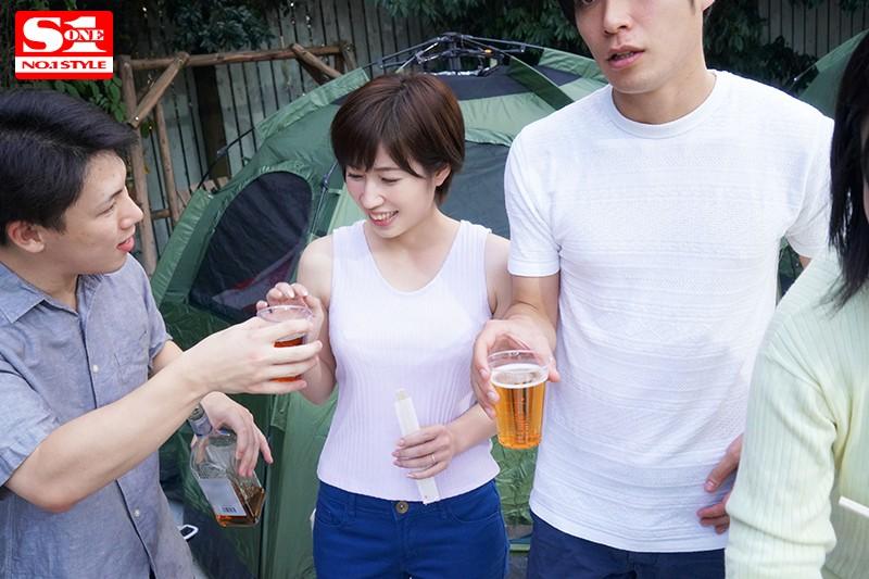 """SSNI-690:露营之旅,巨乳娇妻 """"奥田咲""""在隔壁帐篷被同事轮流拿肉棒伺候…"""