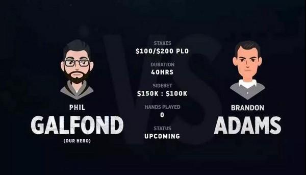 Galfond VS Adams单挑赛将在本月底开战