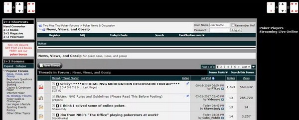 2+2扑克论坛已被出售