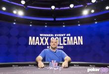 Maxx Coleman获得扑克大师赛第六项赛事冠军!-蜗牛扑克官方-GG扑克